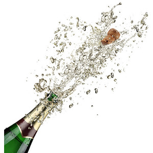 Close-up of champagne explosion - Champagne HD PNG