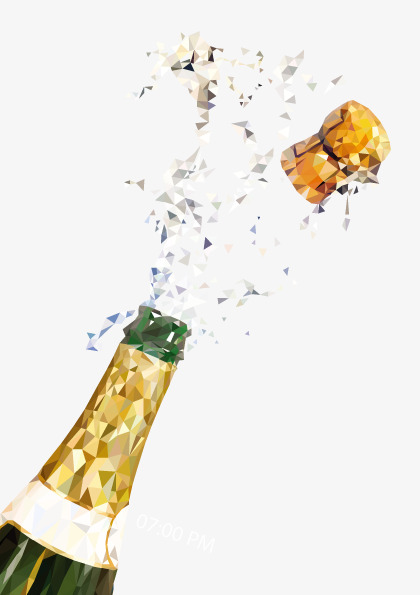 Vector open champagne, Hd, Vector, Celebrate Free PNG and Vector - Champagne HD PNG