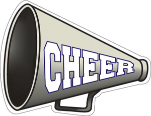 cheer megaphone clipart png - Cheer Megaphone And Poms PNG
