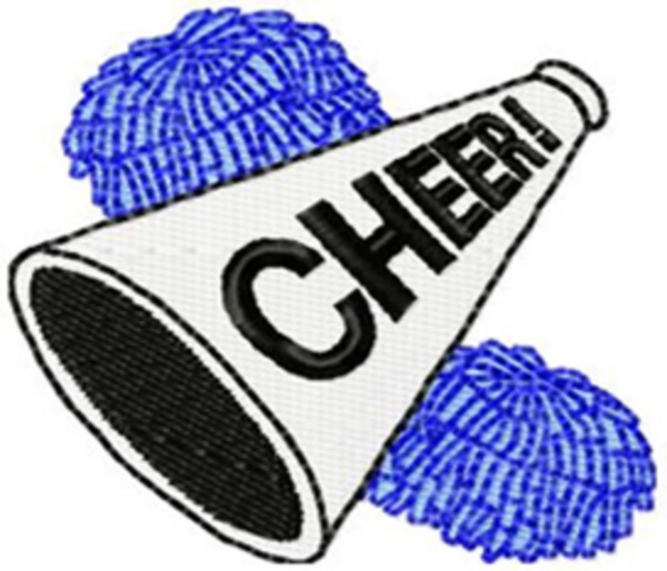 Free printable clip art cheer megaphone clipart - Cheer Megaphone And Poms PNG
