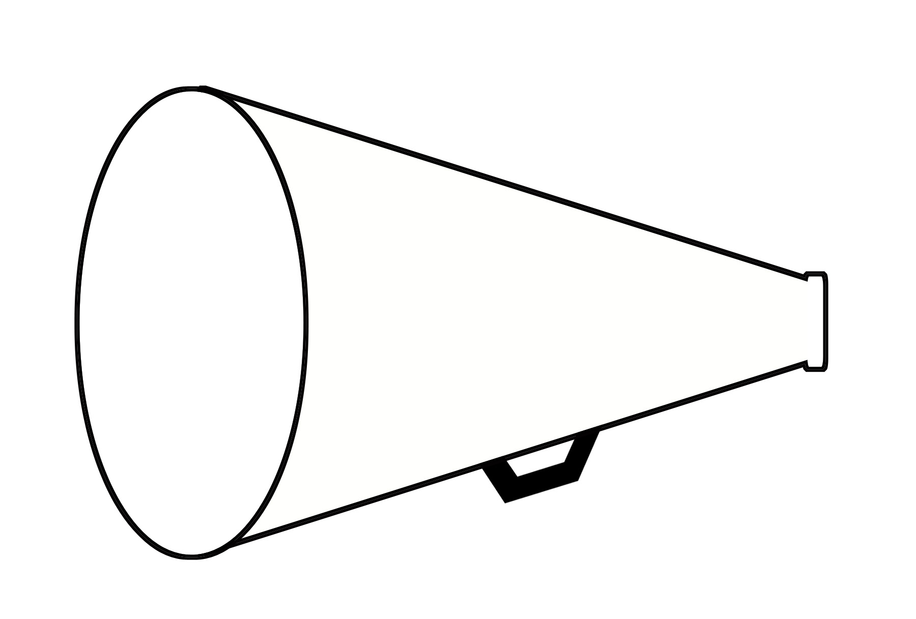 Image of cheerleader megaphone clipart 4 cheer megaphone clip - Cheer Megaphone And Poms PNG