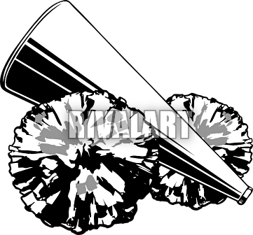 cheer megaphone and poms png transparent cheer megaphone and poms