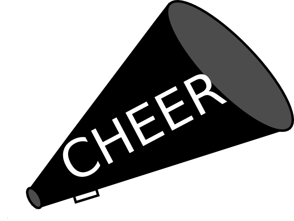 PNG: small · medium · large - Cheer Megaphone And Poms PNG