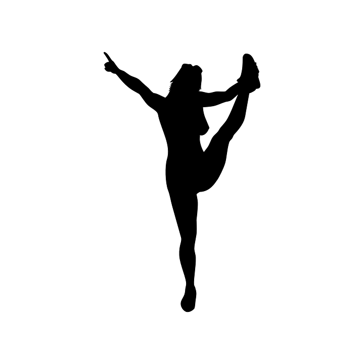 Cheerleader, Ballet, Stretching, Yoga, Female, Girl - Cheerleader HD PNG