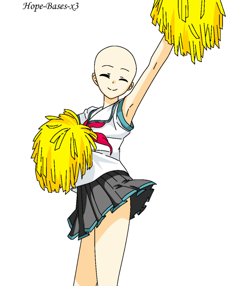 COM: Cheerleader Base by Hope-Bases-x3 PlusPng.com  - Cheerleading Base PNG