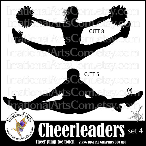 Cheerleading jumps toe touch