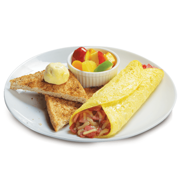 Ham and Cheese Omelette - Cheese Omelette PNG