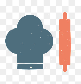 chef, Chef, Hat, Rolling Pin PNG and Vector - Chef Hat Rolling Pin PNG