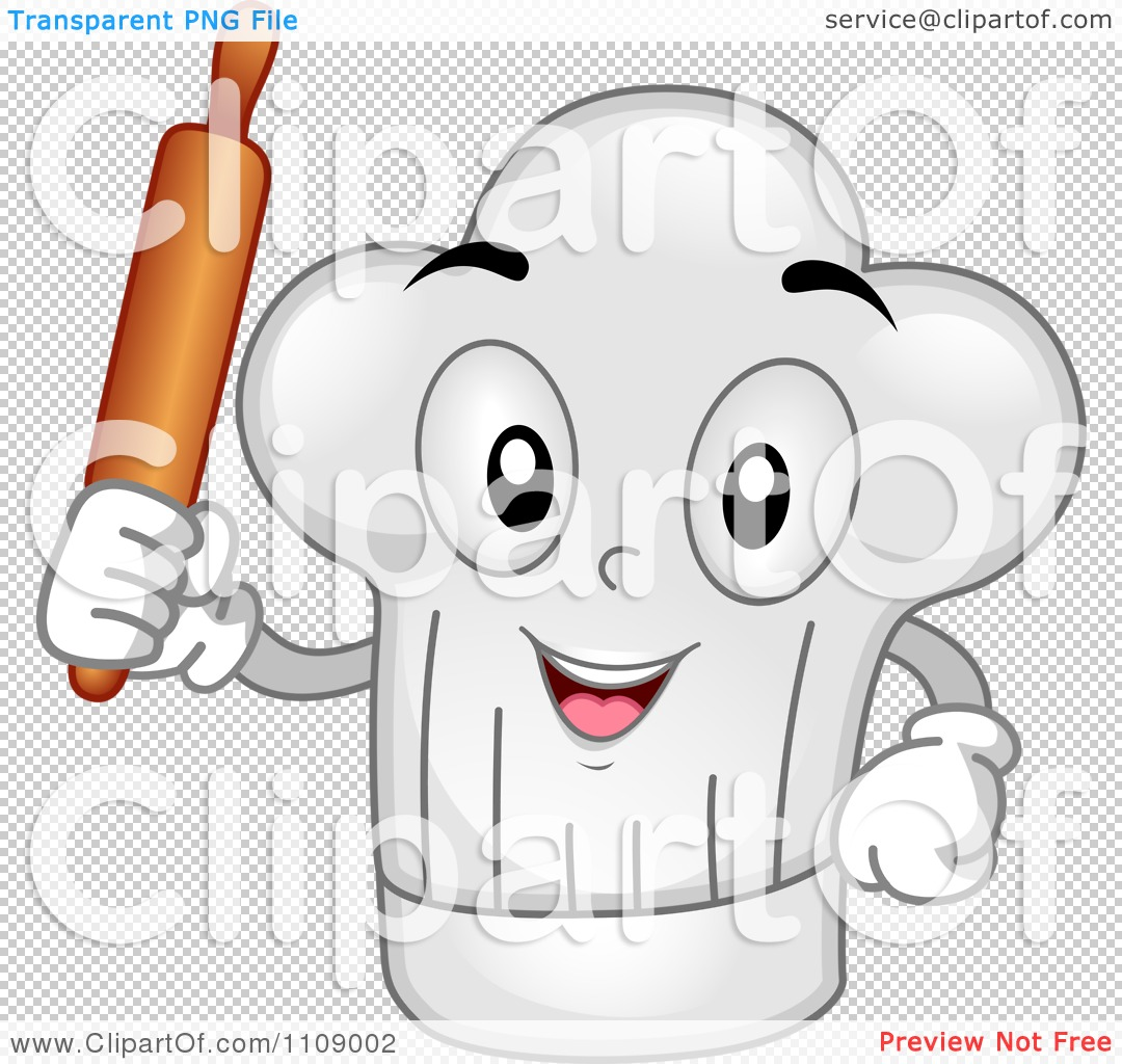 PNG file has a transparent background. - Chef Hat Rolling Pin PNG