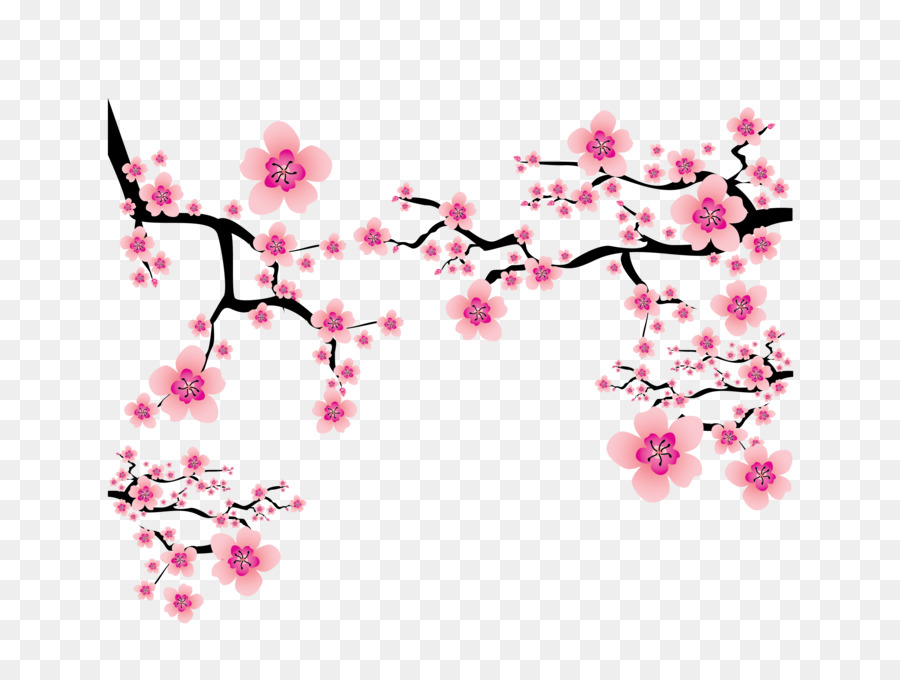 Cherry blossom Plum blossom Clip art - Vector pink Japanese elements cherry  blossom branches dress up - Cherry Blossom PNG HD