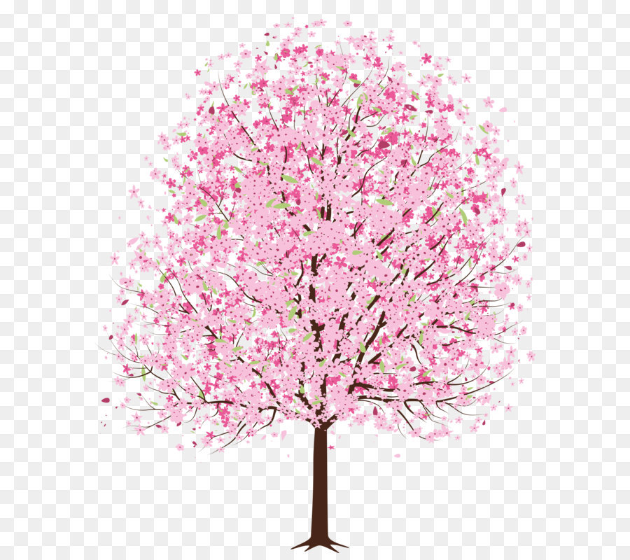 Cherry blossom Tree Clip art - Pink Spring Deco Tree PNG Clipart - Cherry Blossom Tree PNG HD