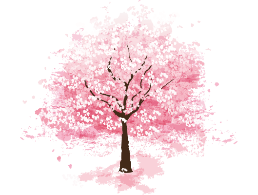 Sakura-tree.png - Cherry Blossom Tree PNG HD