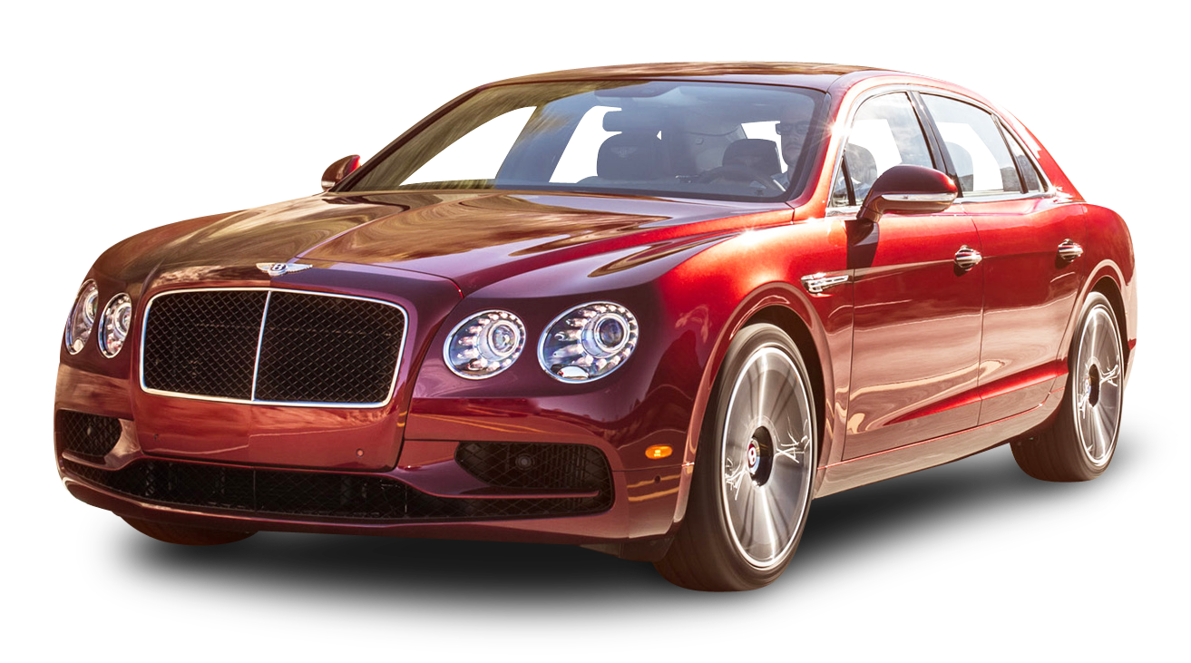 Cherry Red Bentley Flying Spur V8 S Car PNG Image - Bentley PNG
