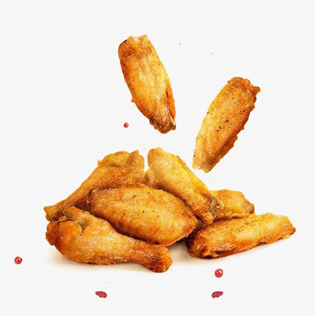Golden fried chicken wings, F