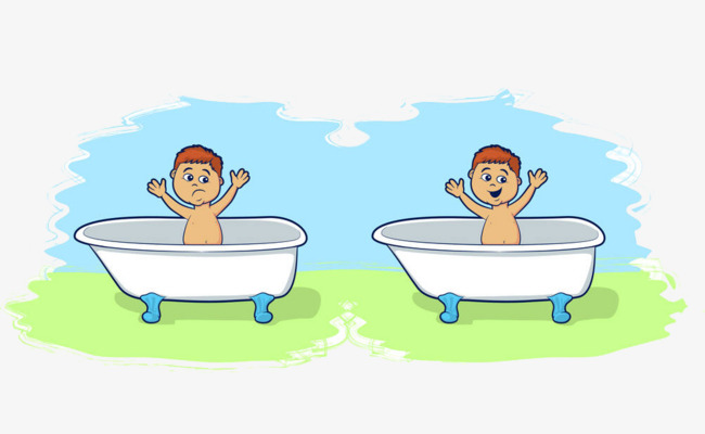 Children in 2 baths, Take A Shower, Bath, Wash Free PNG Image and Clipart - Child Taking A Shower Bath PNG