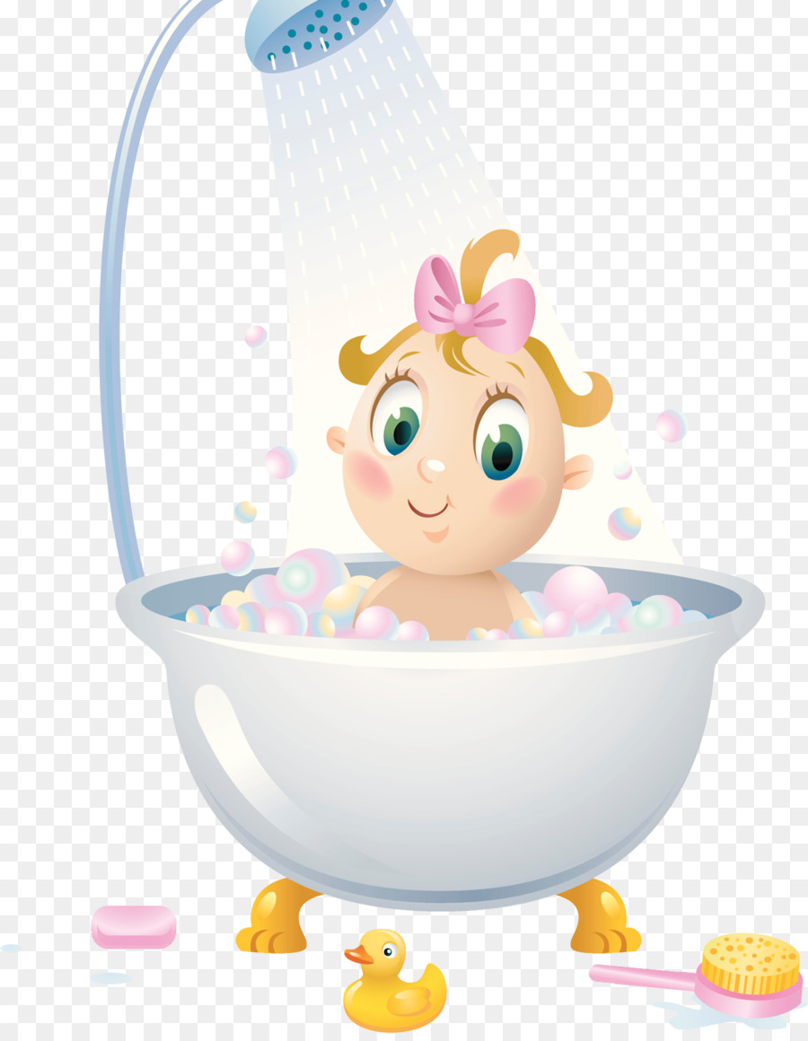 Shower Bathroom Child Bathtub Illustration - Bathroom with shower - Child Taking A Shower Bath PNG