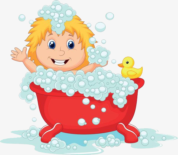 The bathtub and child toy duck, Take A Shower, Bath, Wash PNG Image - Child Taking A Shower Bath PNG