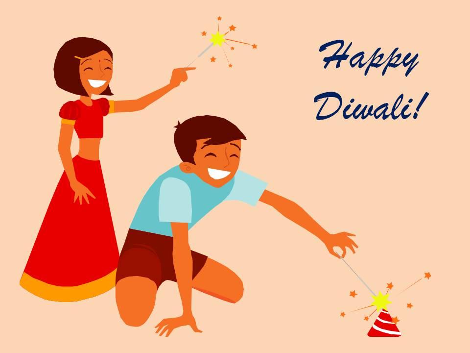 celebrating diwali in school or preschool - Children Celebrating Diwali PNG