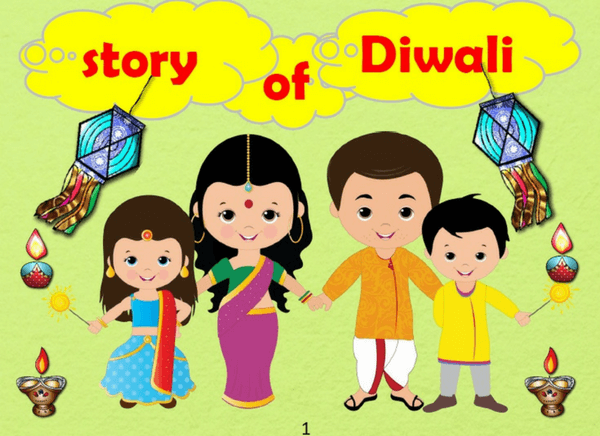 Check out this book on the Story of Diwali for kids to learn all about  this. u201c - Children Celebrating Diwali PNG