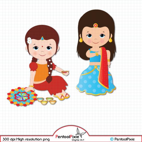 Deepavali clipart, Diwali clipart, ethnic, celebration clipart, Festival  clipart - Children Celebrating Diwali PNG