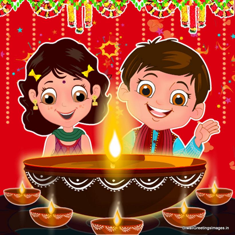 Children Celebrating Diwali PNG - 83553