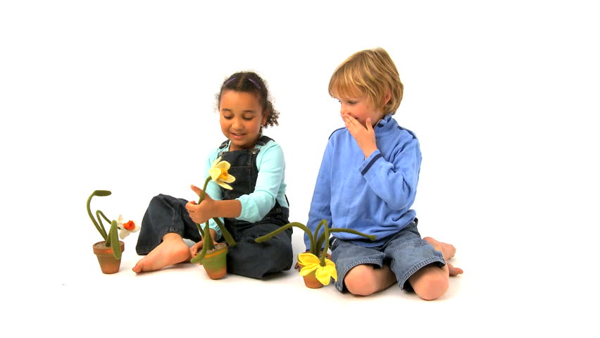 Cute African American u0026 Blonde Children Play Together Stock Footage Video  265702 | Shutterstock - Children HD PNG