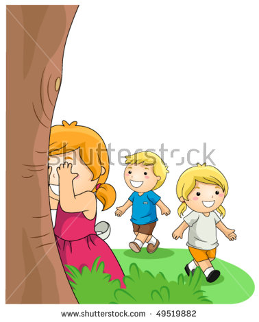 Children Playing Hide And Seek PNG