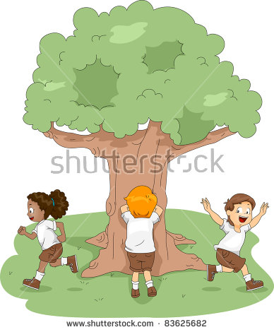 Children Playing Hide And Seek PNG - 65465