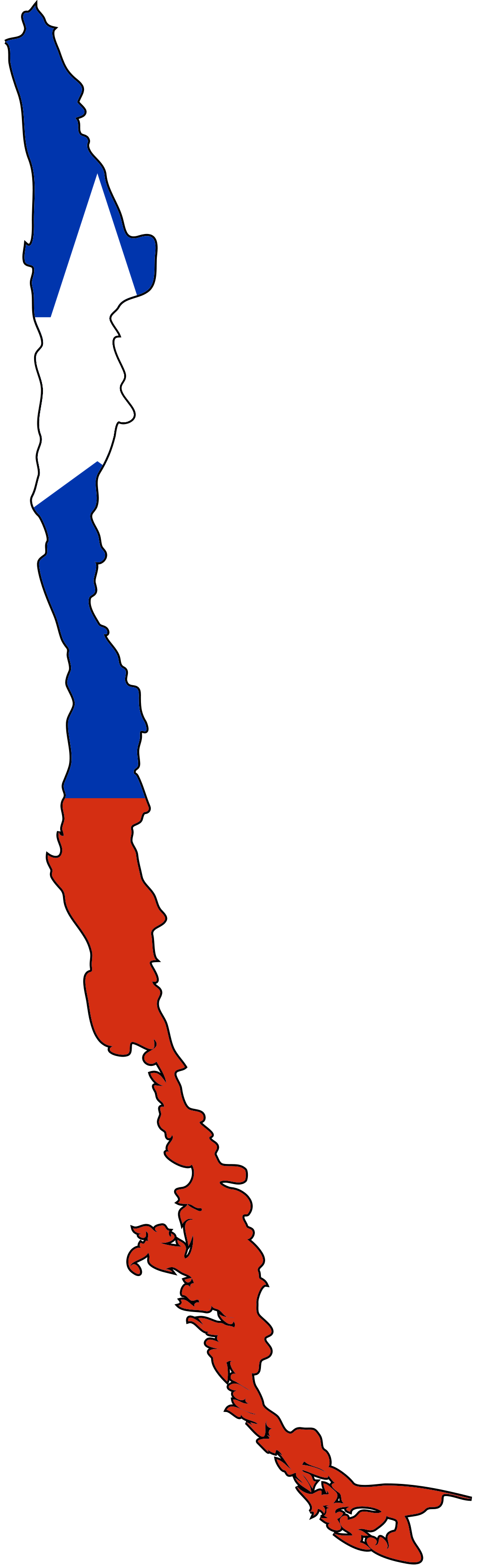 Click on the Chile Flag Map PlusPng.com  - Chile PNG