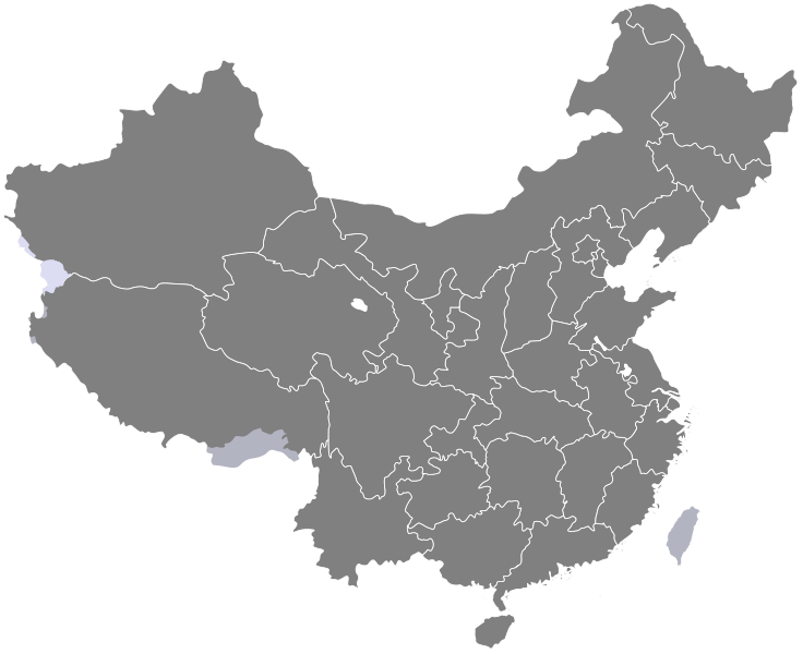File:China provinces blank.svg - China PNG