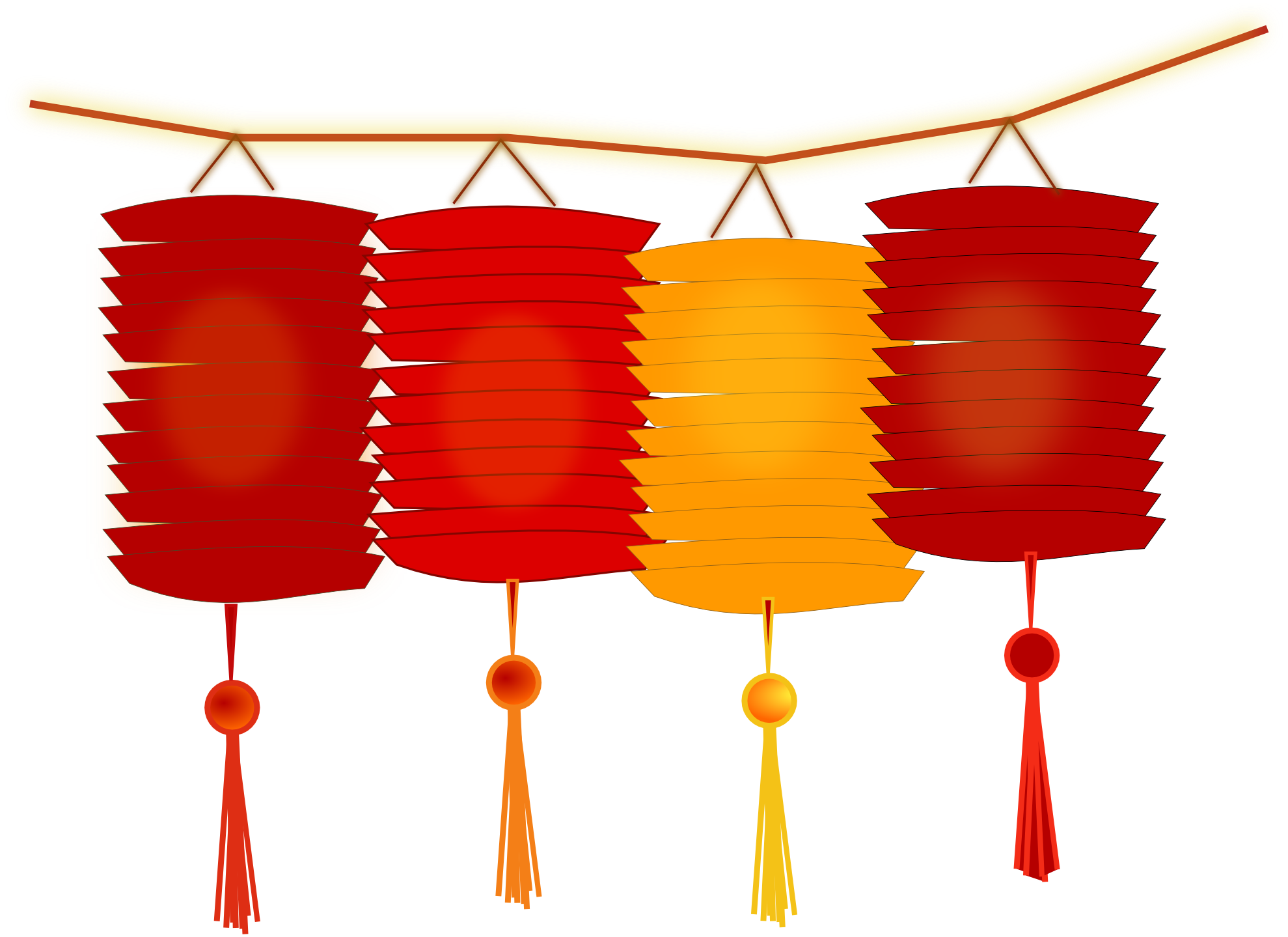 . PlusPng.com Chinese New Year Paper Lanterns 1979px.png 431(K) - Chinese New Year HD PNG