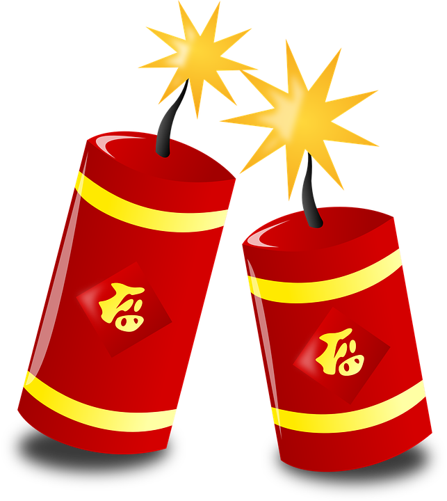plum red lanterns background