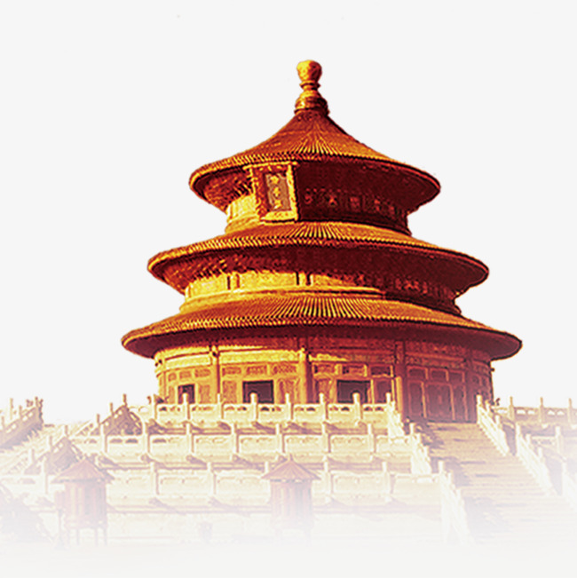 Golden Temple of Heaven, Temple Of Heaven, Golden, Beijing PNG Image - Chinese Temple PNG HD