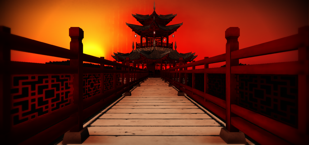 MMDFakewings18 483 73 Chinese temple stage by chocosunday - Chinese Temple PNG HD