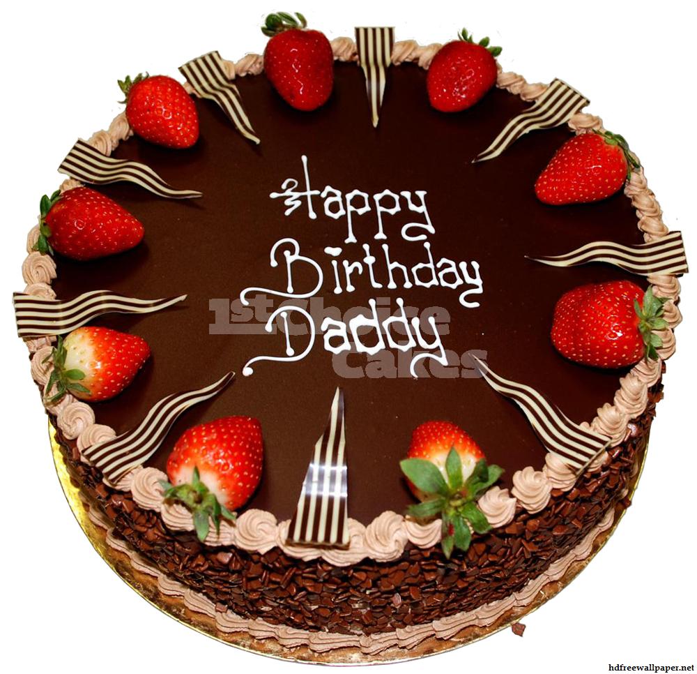 Birthday Chocolate Cake And Balloons