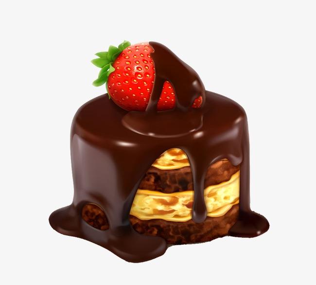 Strawberry Cake Hd Fruit Birthday Chocolate Free PNG Image