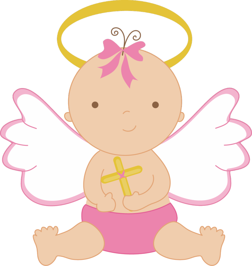 baby angel clipart - Christening PNG HD