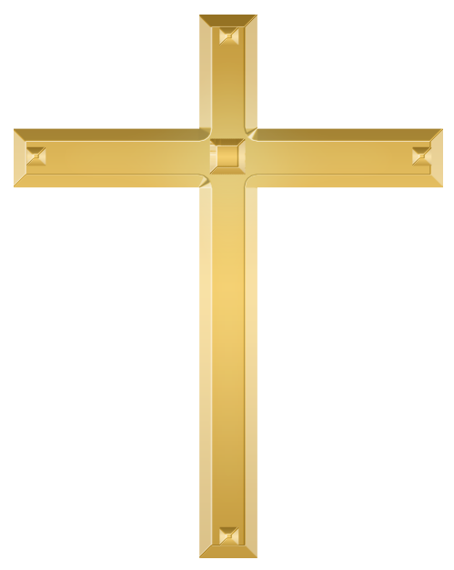 File:Golden christian cross.png - Christian PNG HD Crosses