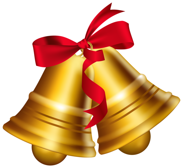 Christmas Bells With Bow PNG Clip Art Image - Christmas Bell PNG