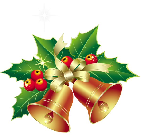Christmas Bells With Mistletoe Ornament PNG Clipart - Christmas Bell PNG