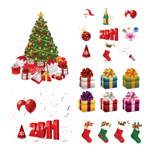 Christmas Elements PNG HD - Christmas HD PNG