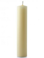1 1/2 X 15 INCH IVORY BEESWAX CANDLE - Church Candles HD PNG