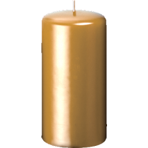 80 x 150mm Gold / Silver Pillar Candles (Case 12) - Church Candles HD PNG