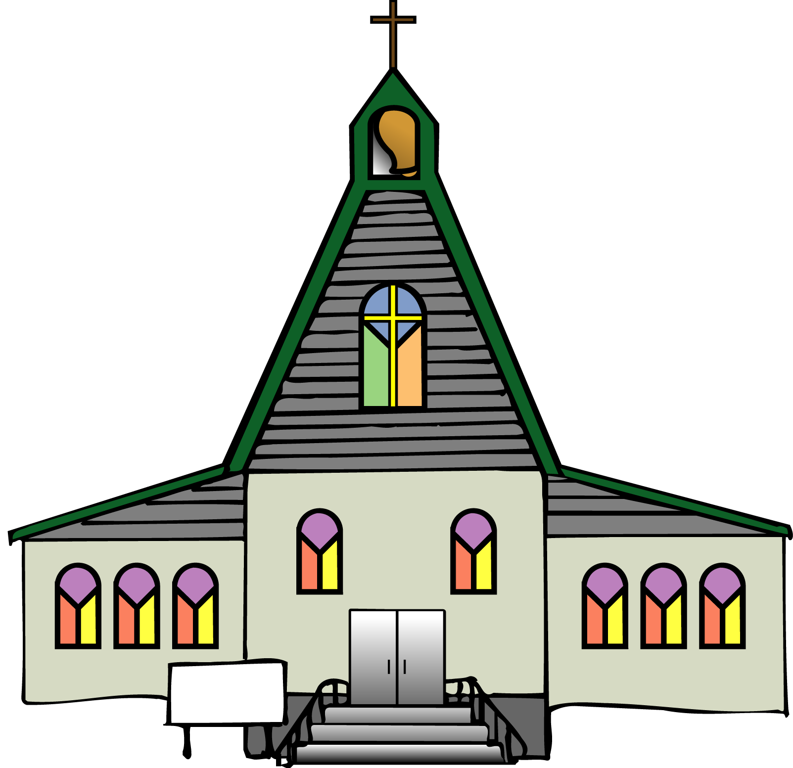 Black church clip art free clipart images 4 - Church HD PNG