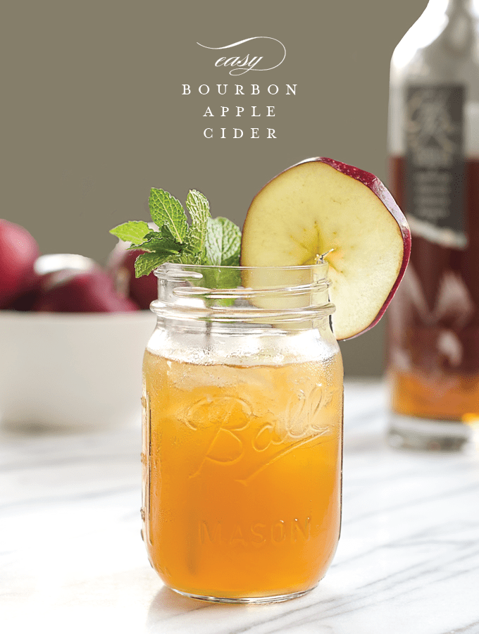 Easy Bourbon Apple Cider. The perfect cocktail for fall and winter seasons. - Cider PNG
