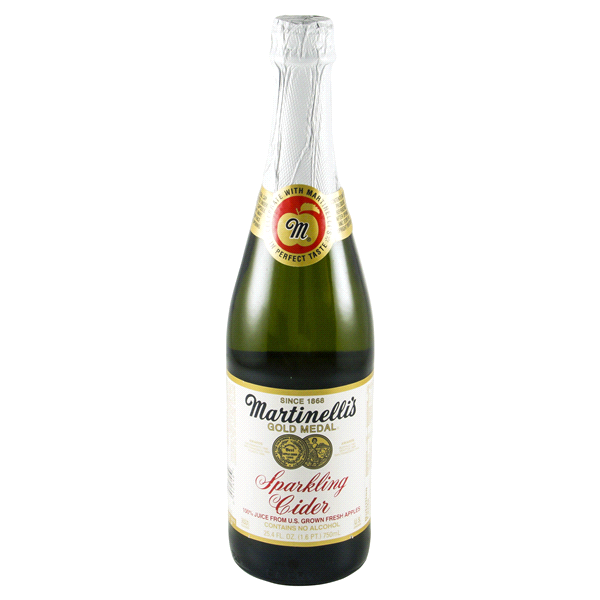 Martinelli Juice Sparkling Cider - 25.4 Oz - Cider PNG