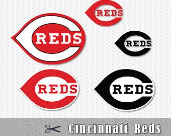 Cincinnati Reds Layered SVG PNG Logo Vector File Silhouette Studio Cameo  Cricut Design Template Stencil Vinyl - Cincinnati Reds Logo Vector PNG