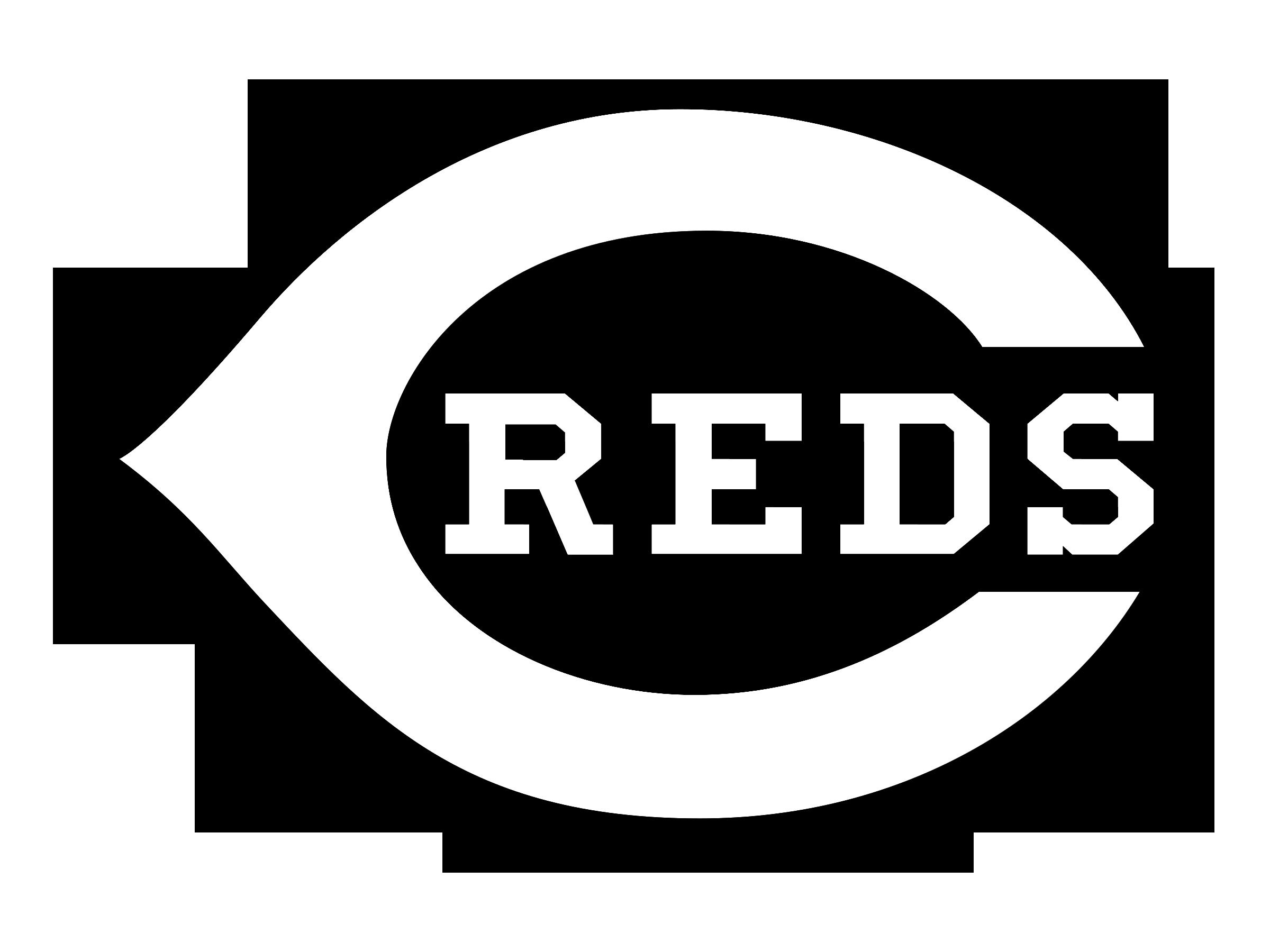Cincinnati Reds logo black and white - Cincinnati Reds Logo Vector PNG