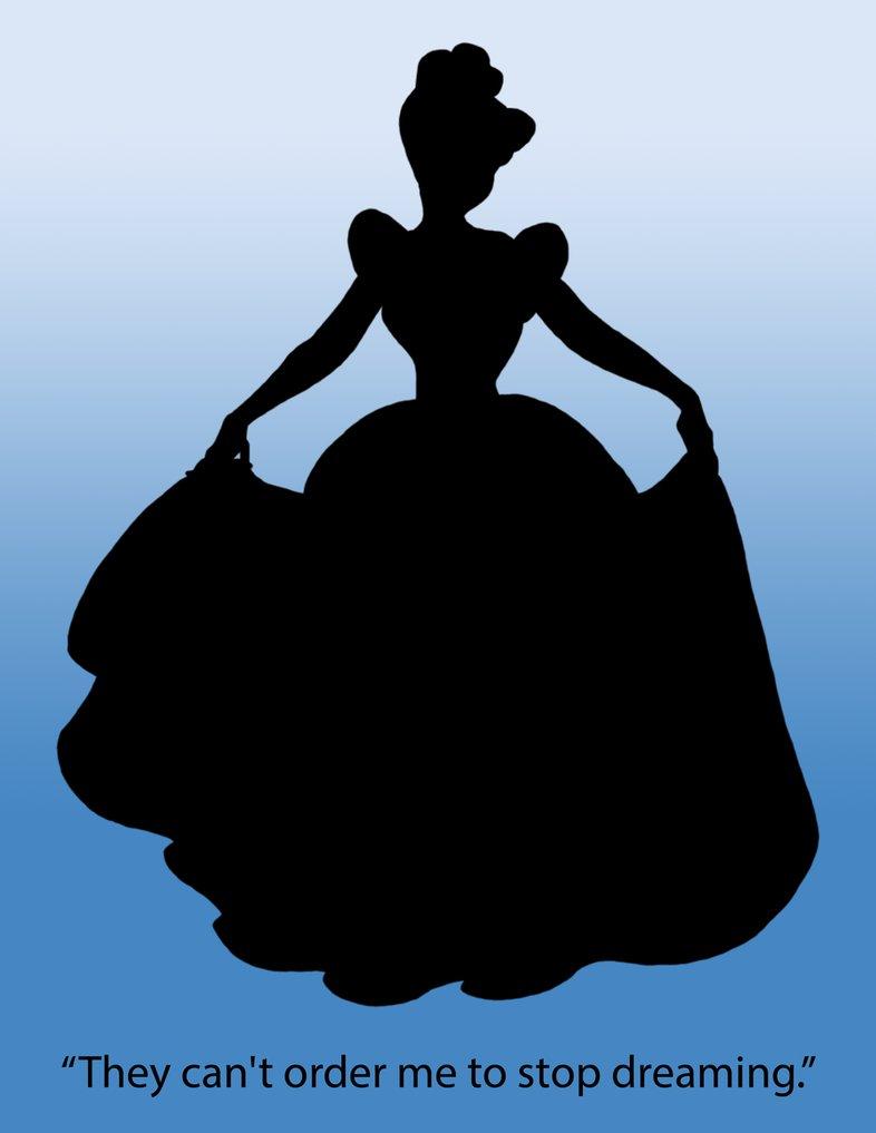 Cinderella Silhouette Poster by DamitaLPerez PlusPng.com  - Cinderella Silhouette PNG HD