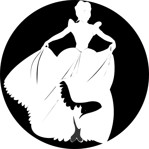 Download this image as: - Cinderella Silhouette PNG HD